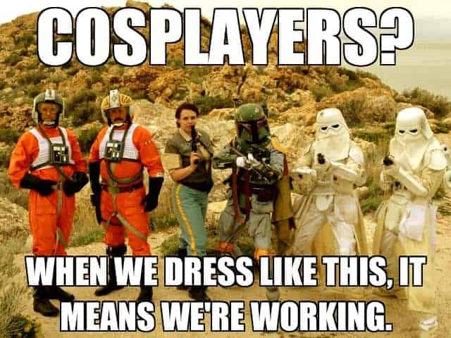 rejecting cosplay
