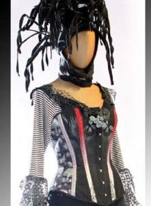 Custom Corsets: Hand Painted Golliwog Glamour