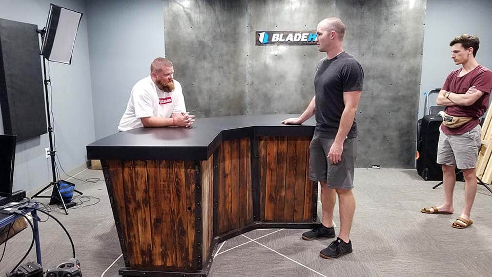 a custom table for BladeHQ's video series