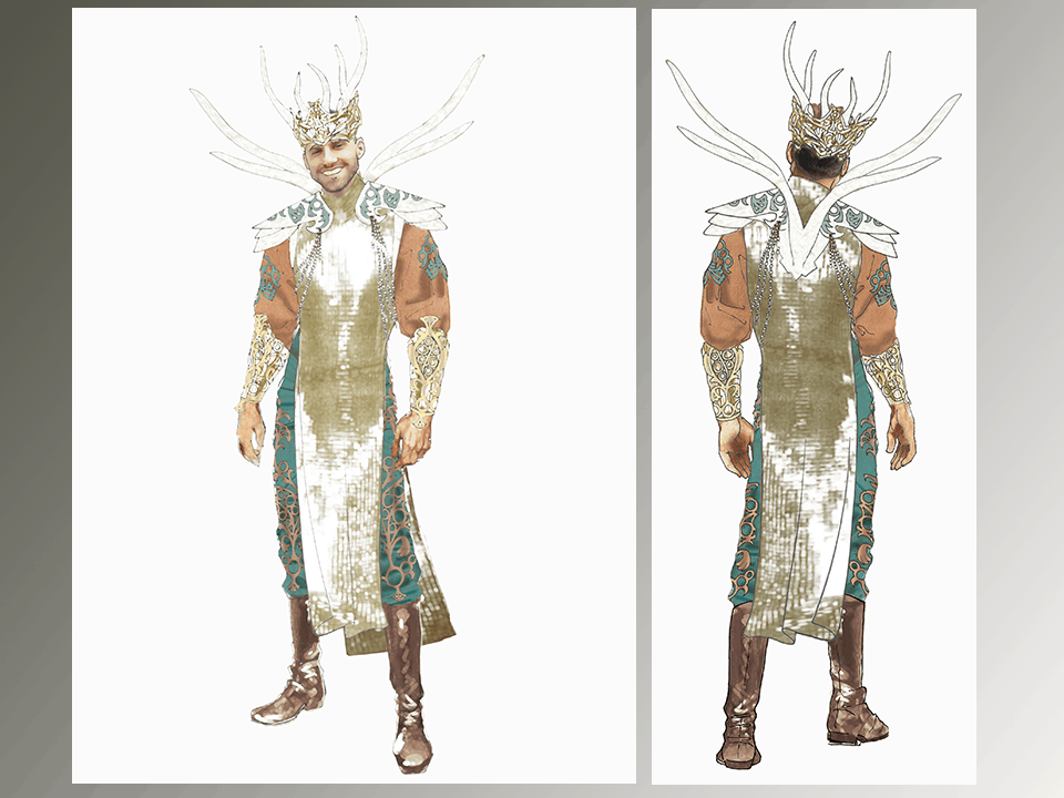 More detailed costume rendering combining client's inspiration images