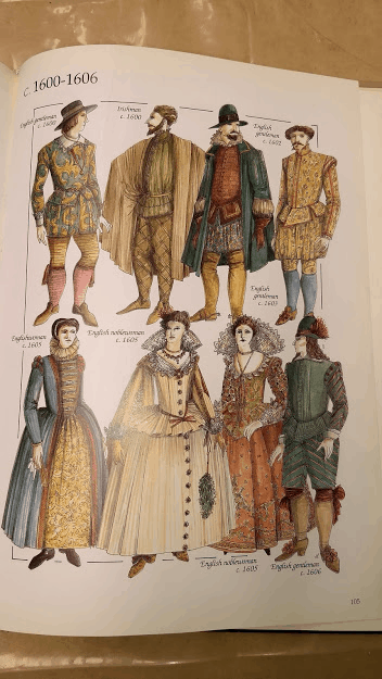 Period costume drawings in John Peacock's The Chronicle of Western Costume