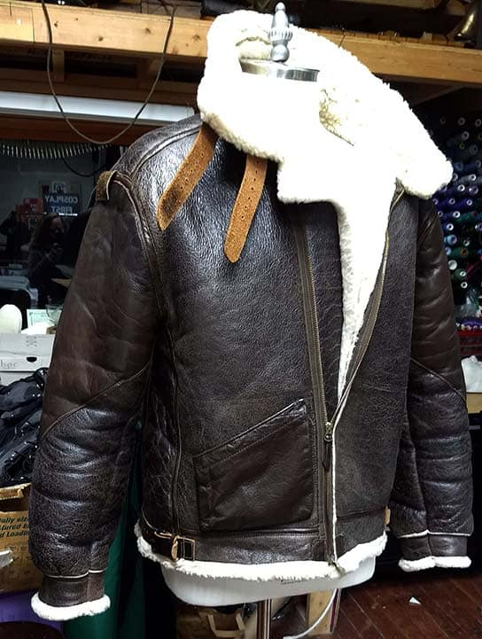 B-3 Leather Bomber Jacket Alterations