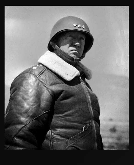 General Patton in his B3 bomber jacket. Pic from the Heddels site.