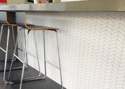 Under Kitchen Counter Wallpaper