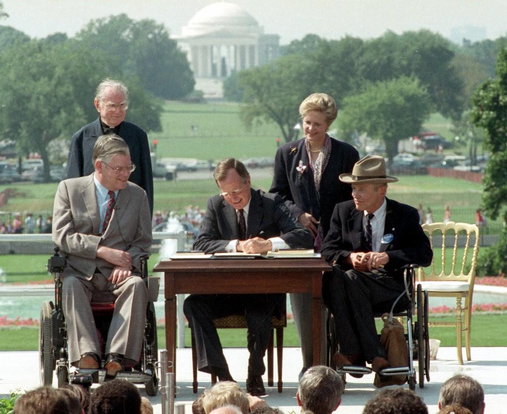 ADA signing by President Bush