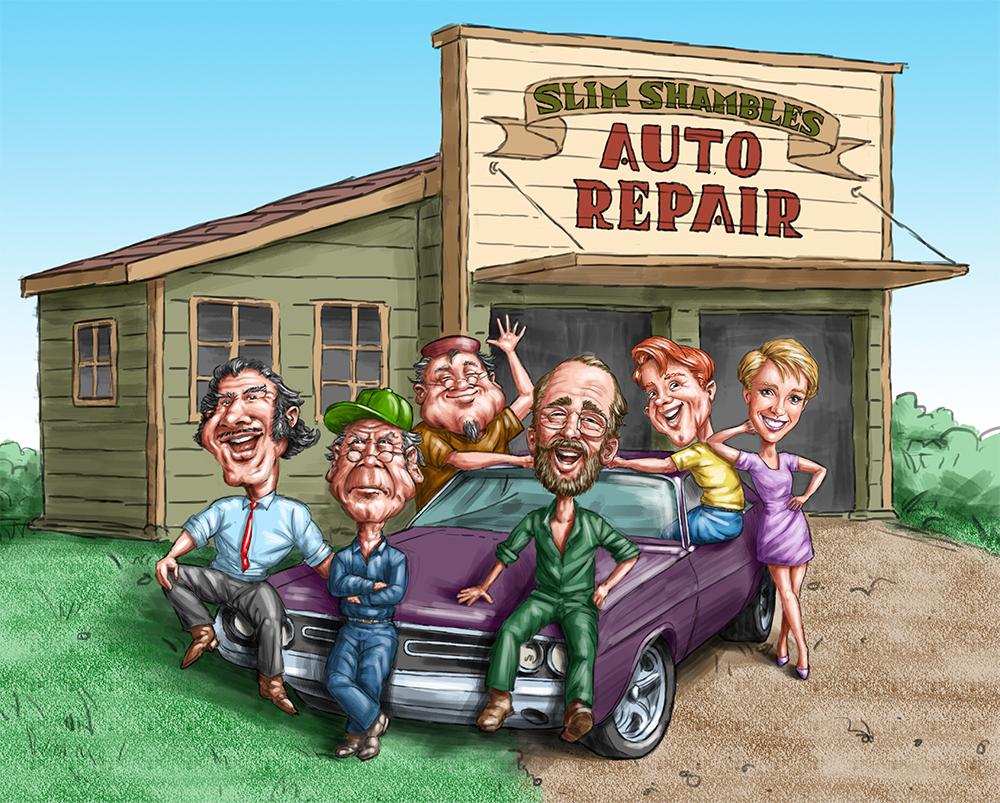 Group Portrait for The Car Side - Cars Magazine (Allan Janssen CD)