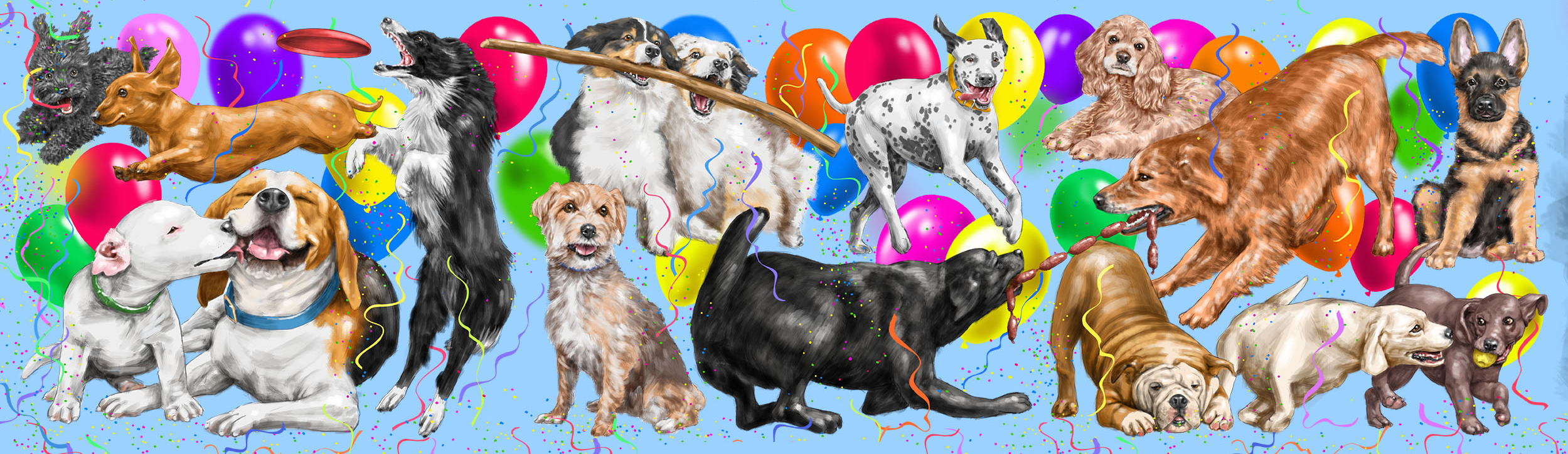Dog's Birthday Party Poster - Dogstuff Depot (Cordula Maring AD)