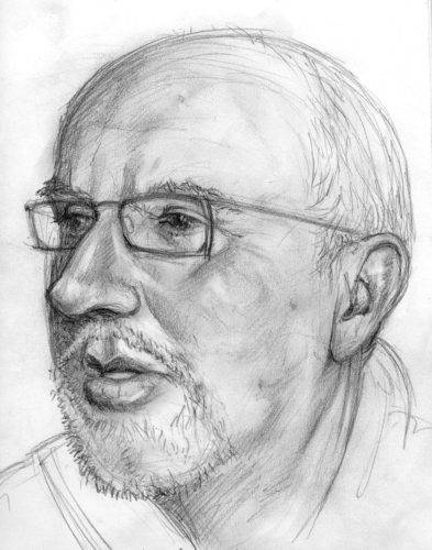 Pencil drawing by John Fraser of Mark Maclean, pencil study, pencil drawing, drawing skills, graphite study, personal work