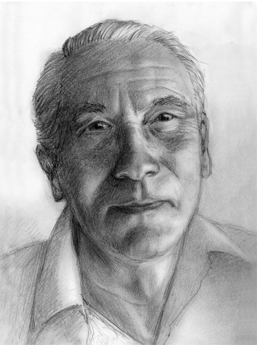 Pencil drawing portrait by John Fraser of Norman