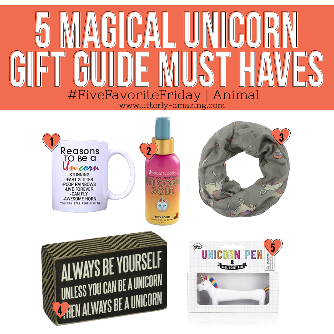 5 Magical Unicorn Gift Guide Must Haves | #FiveFavoriteFriday