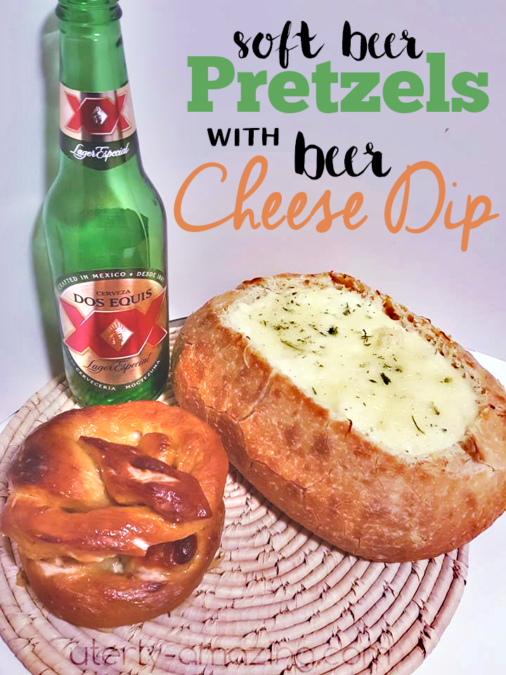 Soft Beer Pretzels And Beer Cheese Dip With Dos Equis