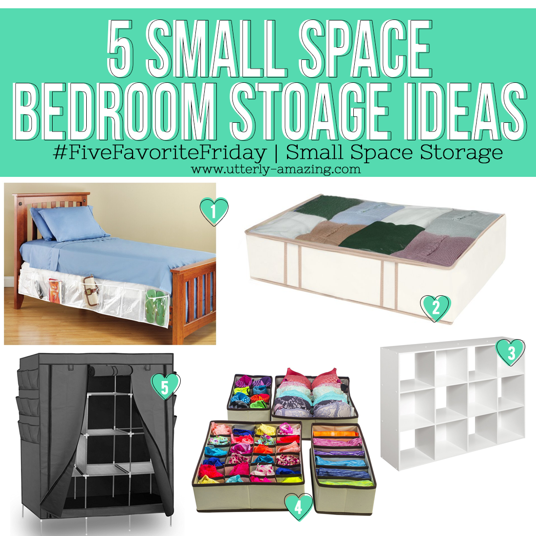 5 Small Space Bedroom Stoage Ideas
