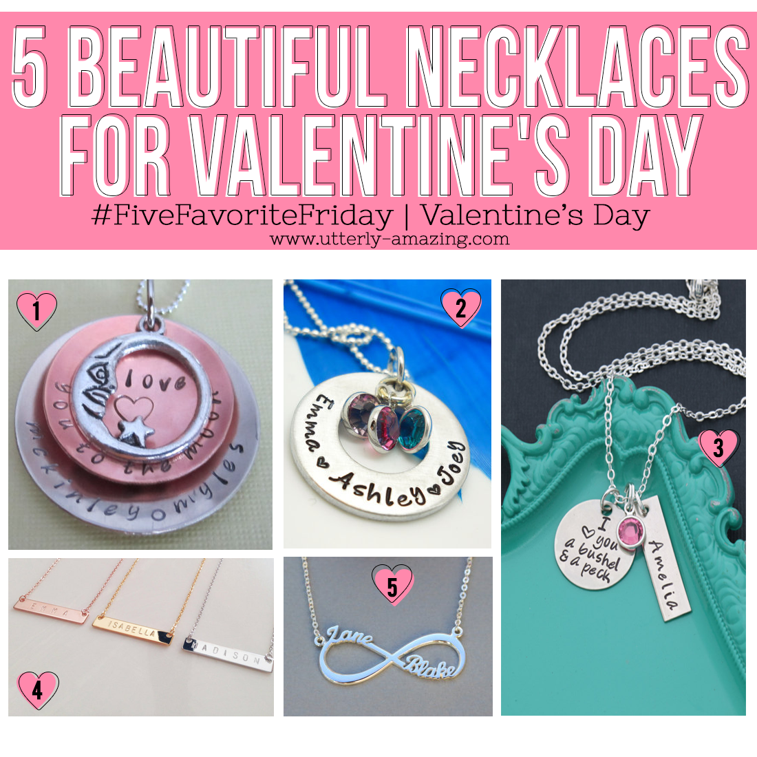 5 Beautiful Necklaces From Etsy For Valentine's Day