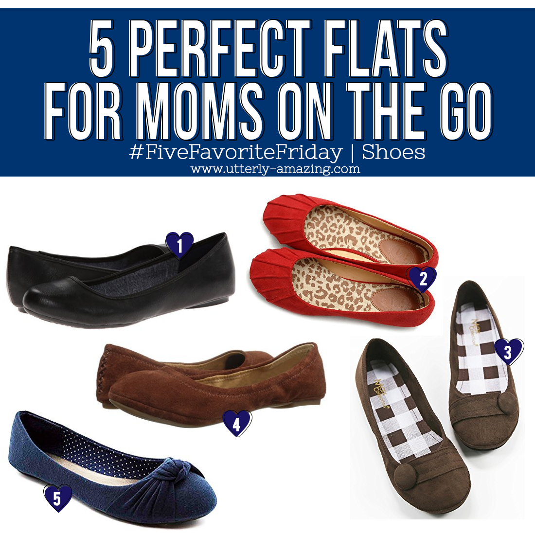 5 Perfect Flats For Moms On The Go | #FiveFavoriteFriday