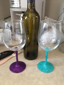 Glitter Dipped Wine Glasses