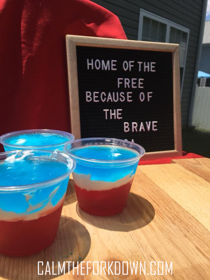 4th of July Patriotic Treats | Red White & Blue Jell-o Cups