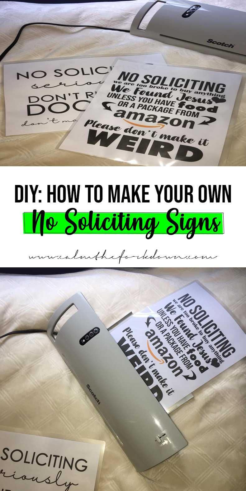 DIY: How to Make Your Own No Soliciting Door Sign