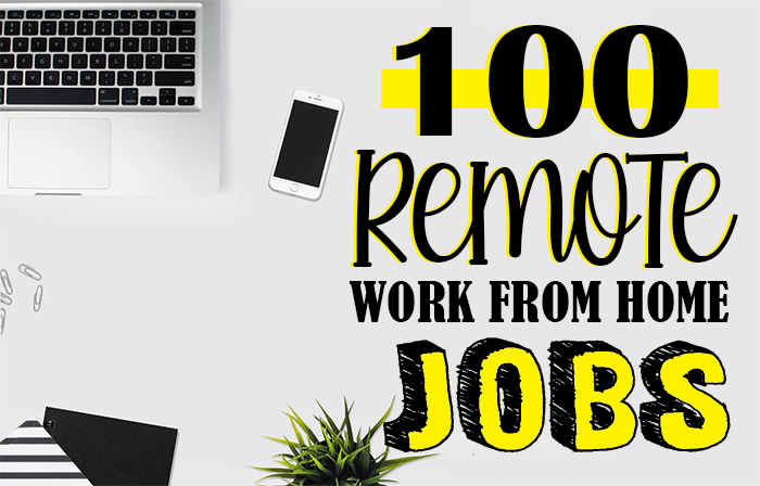 Today I am going to share 100 remote work from home jobs that might just be the job you're looking for. Most work from home jobs require a computer, high speed internet and a landline phone.
