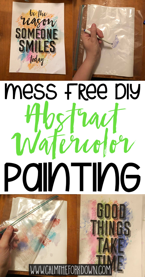 DIY Abstract Watercolor Painting