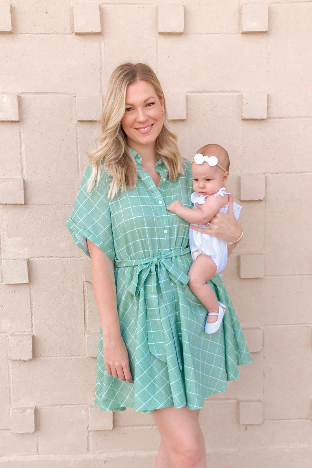 Green Button Dress 4