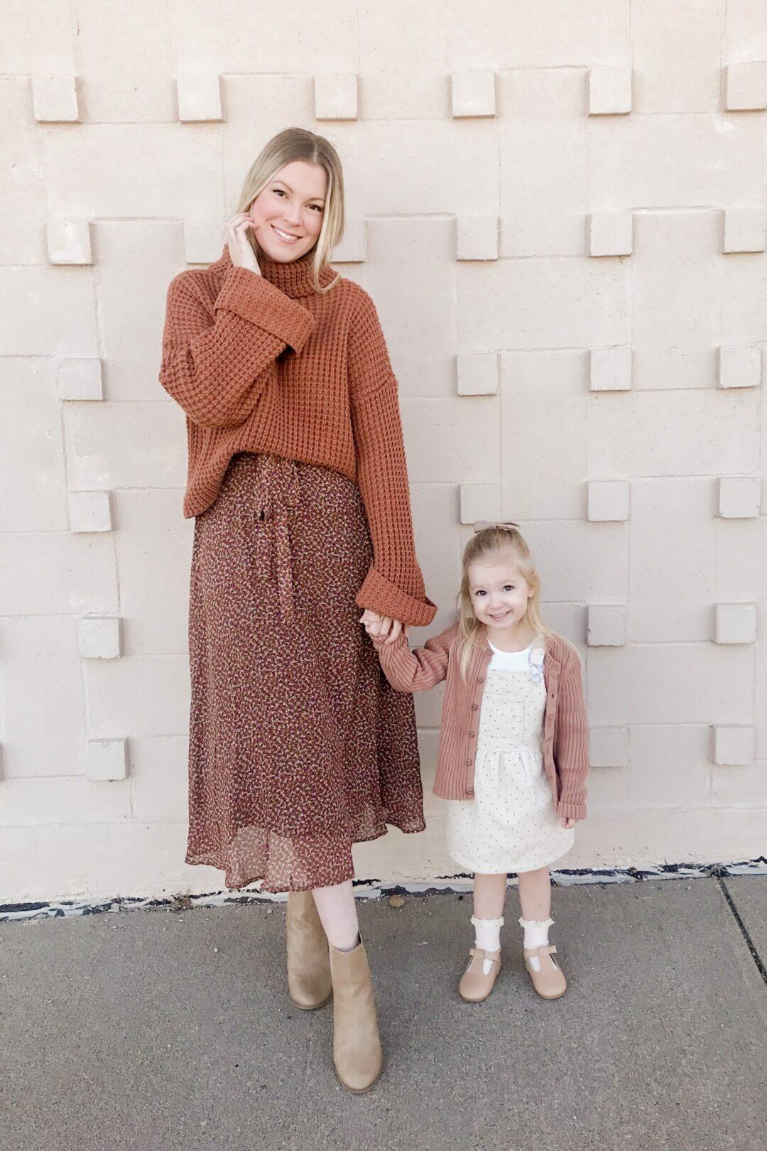 Brown Floral Midi Dress 2
