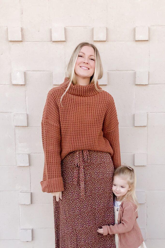 Brown Floral Midi Dress 1