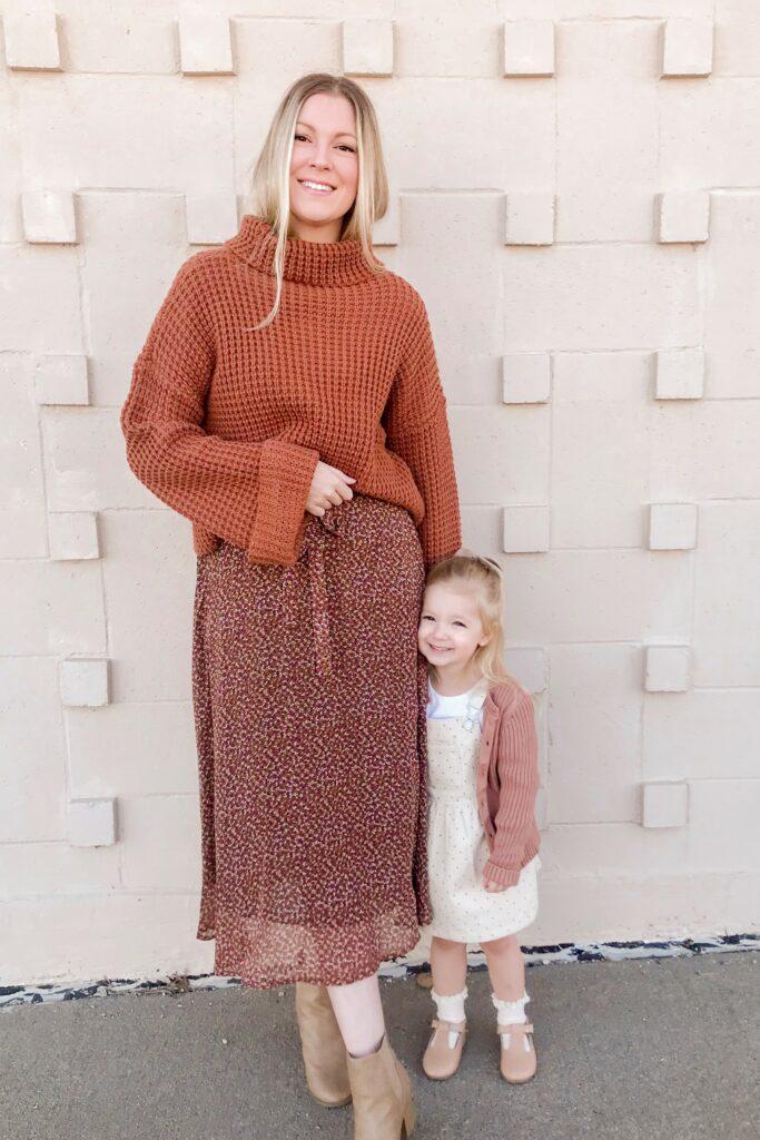 Brown Floral Midi Dress 4