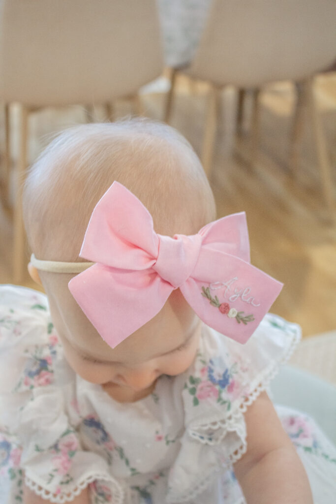 Embroidered Hair Bows 11