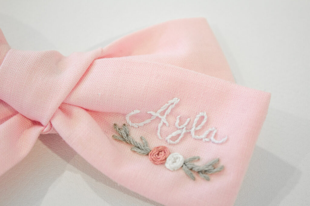 Embroidered Hair Bows 6