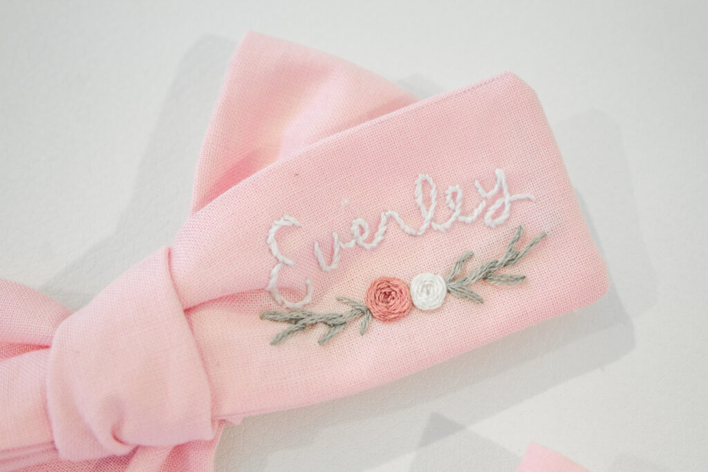 Embroidered Hair Bows 5