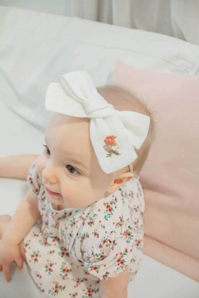 Embroidered Hair Bows 2