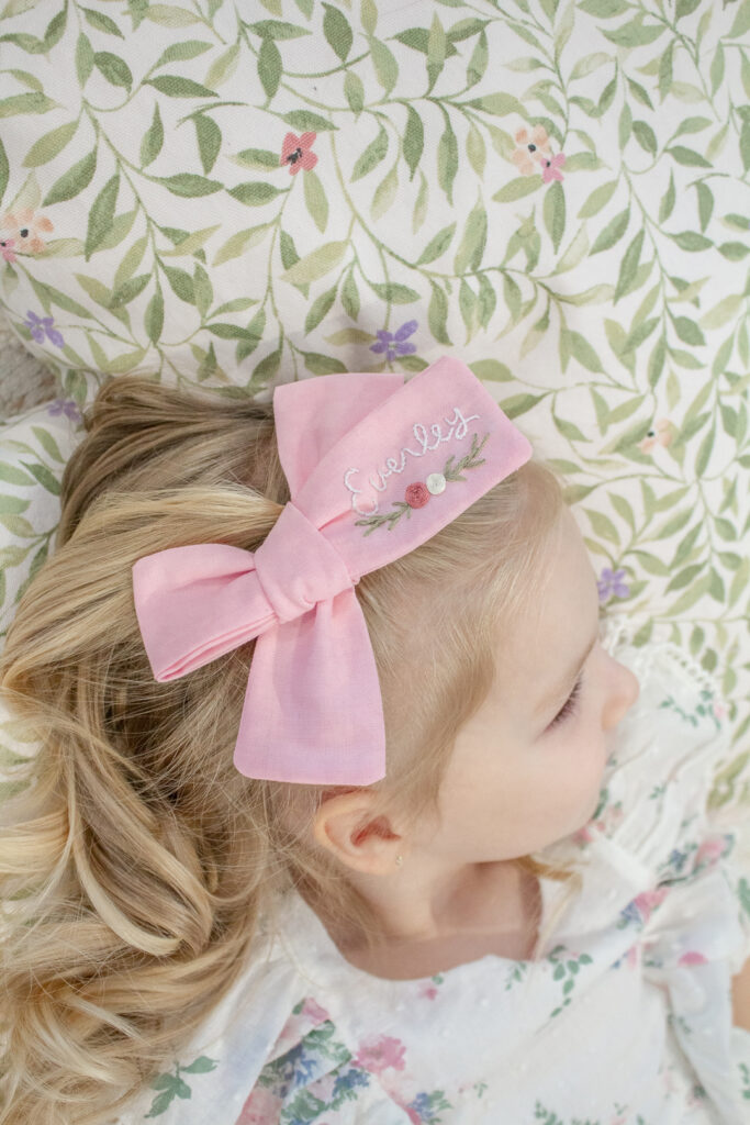 Embroidered Hair Bows 16