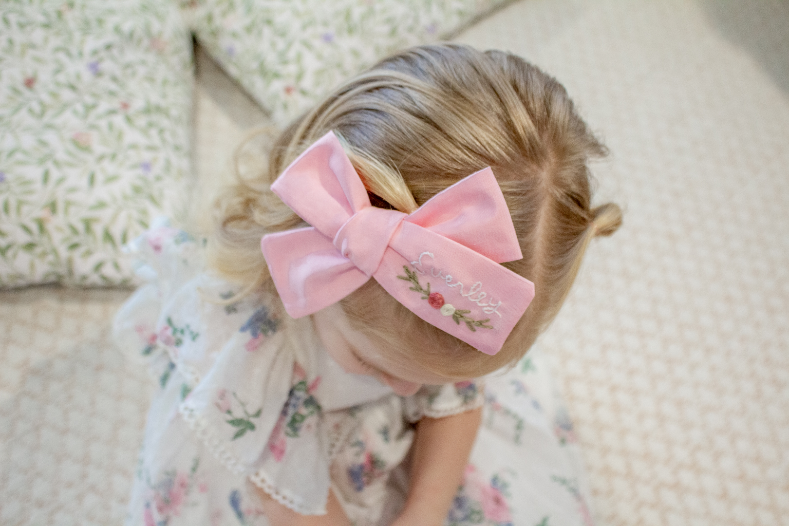 Embroidered Hair Bows 14