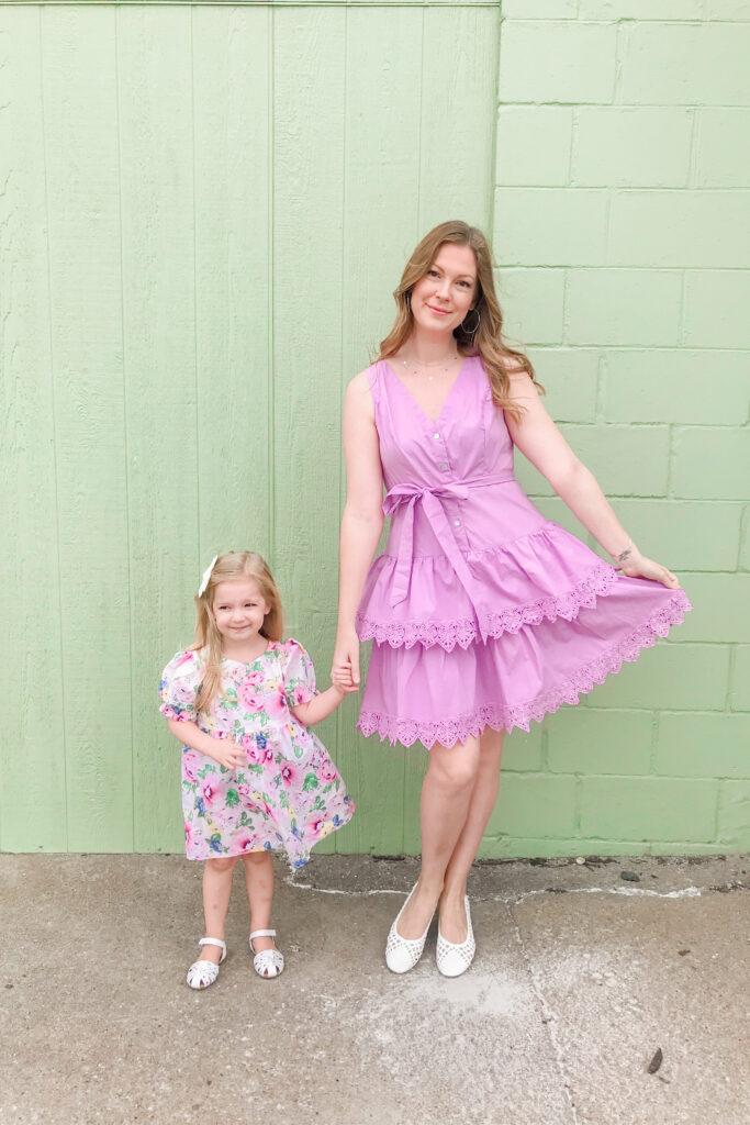 Purple Tiered Dress 1