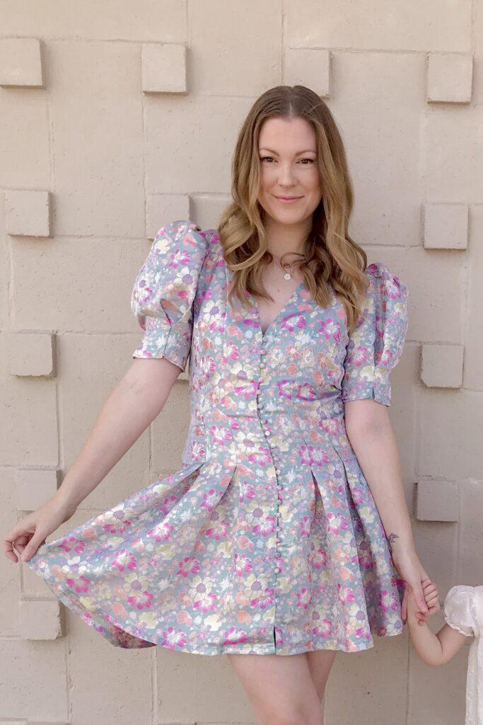 Jacquard Floral Dress 3