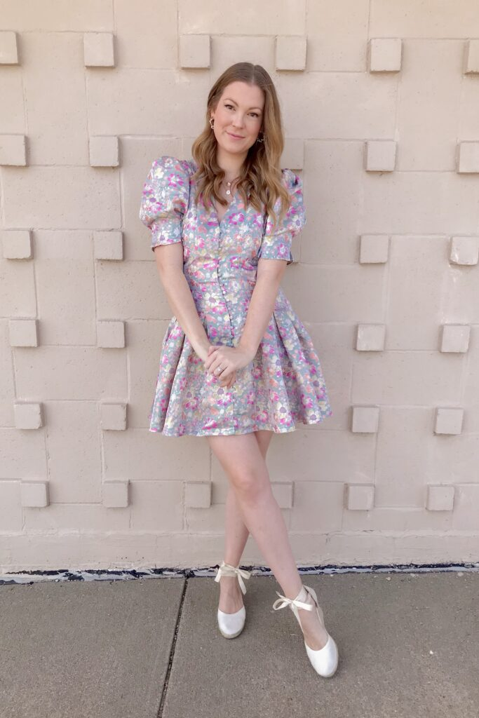 Jacquard Floral Dress 5