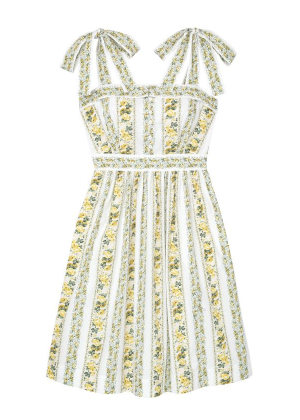 arina dress yellow floral stripe gal meets glam brookie
