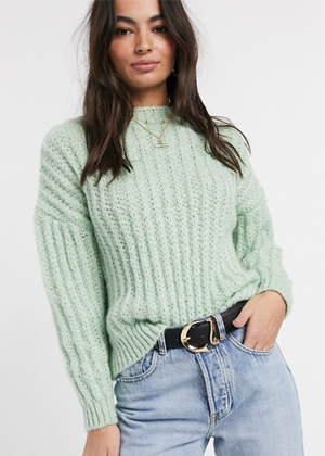 green sweater knit brookie asos