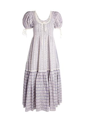loveshackfancy judith purple stripe floral puff sleeve maxi dress brookie