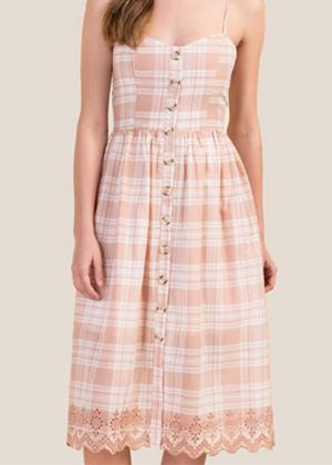 pink eyelet button dress francescas brookie