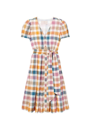 poppy plaid button dress brookie gal meets glam