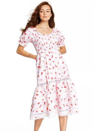 white pink floral loveshackfancy x target brookie cosette
