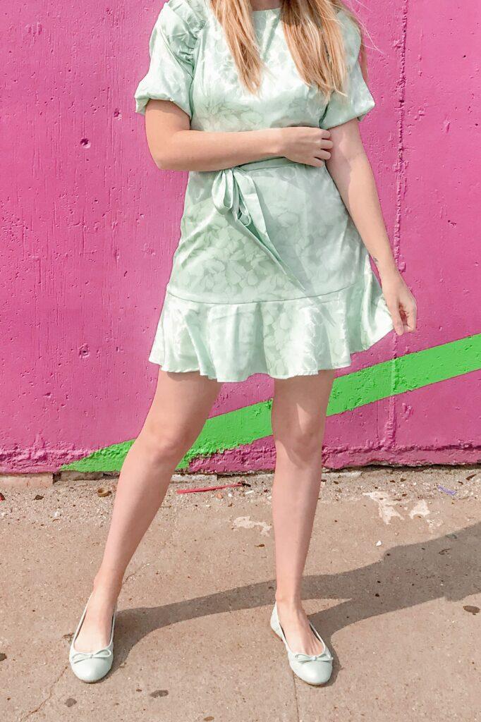 Green Jacquard Dress 3