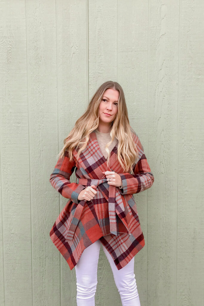 Plaid Wrap Coat 6