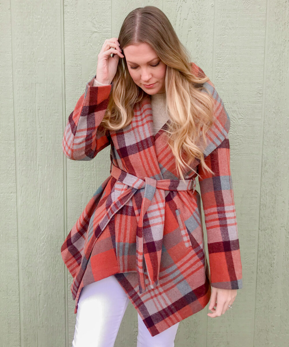 Plaid Wrap Coat 4