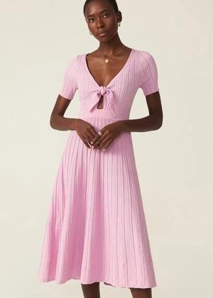 candy pink pointelle knit ribbed sweater dress premium motf brookie shein