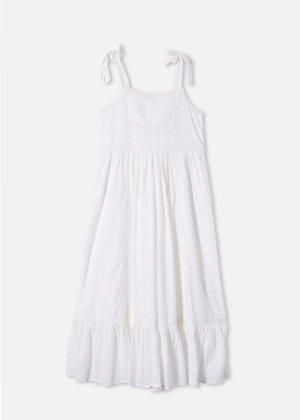 white cotton on brookie mama midi dress bow shoulder midi