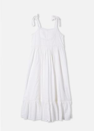 white cotton on brookie mama midi dress bow shoulder midi