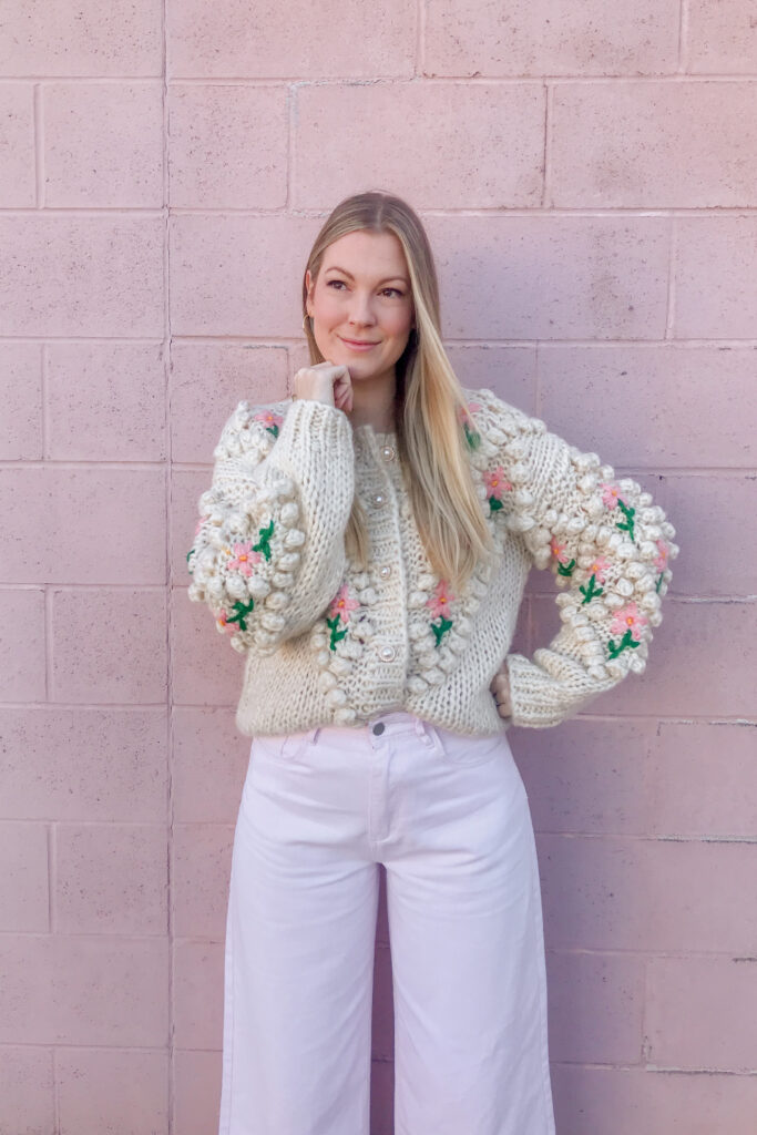 Pearl Button Floral Cardigan 6