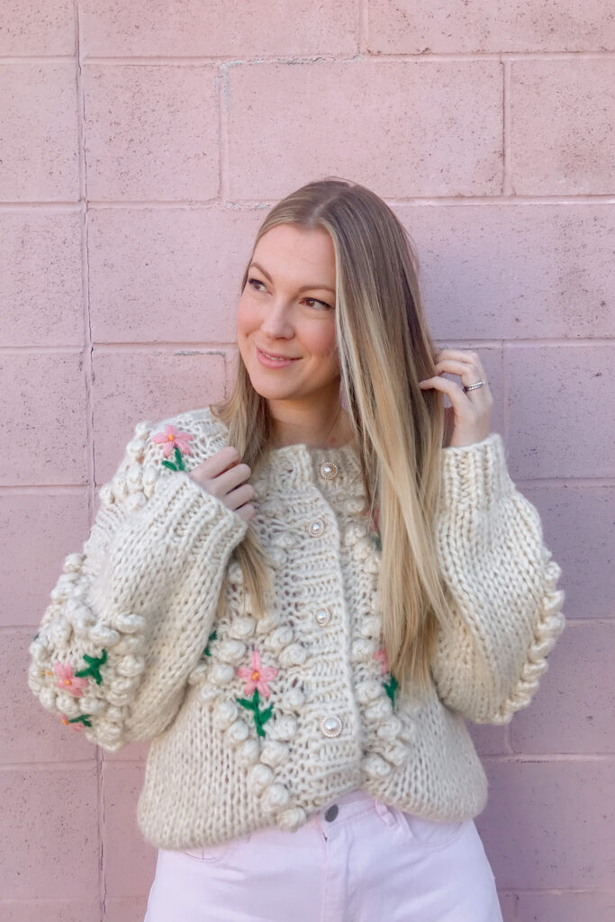 Pearl Button Floral Cardigan 3